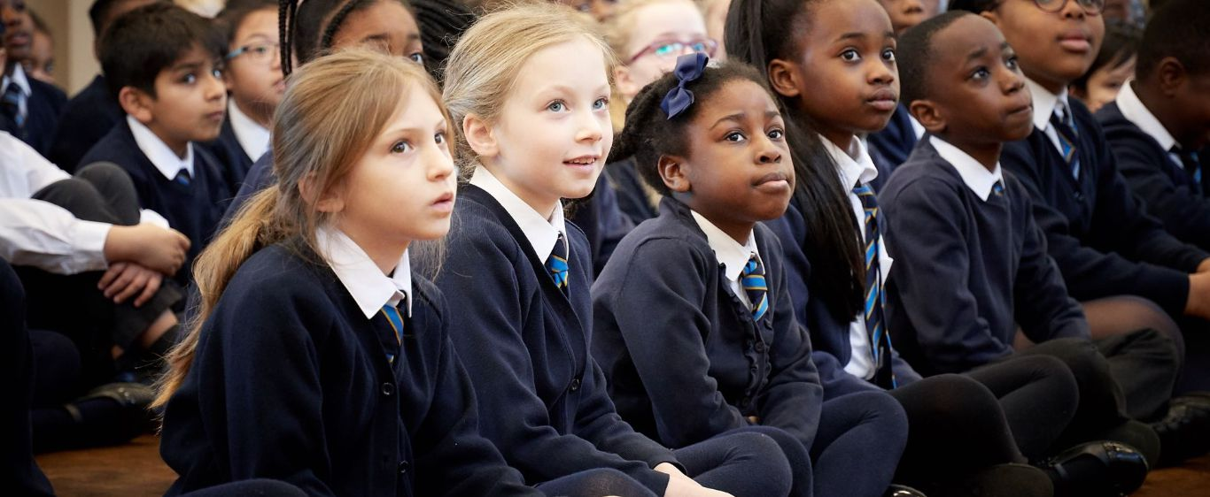 School children in an assembly
